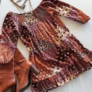 BAND OF GYPSIES Off The Shoulder Boho Dress Size M